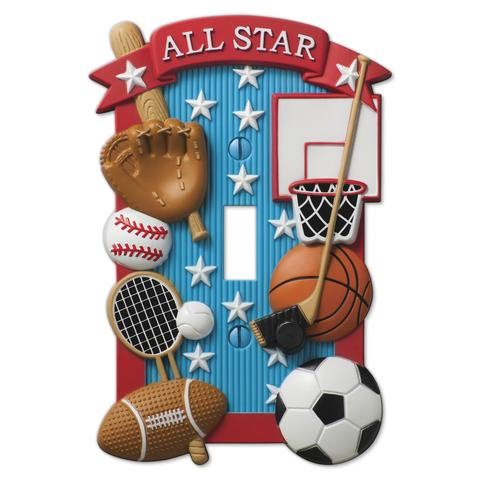 Latest Sports-Themed Wallplates to Try in Kids' Rooms
