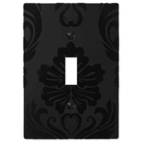 Damask Black Plastic