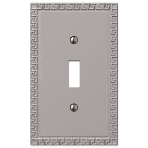 Greek Key Satin Nickel Cast