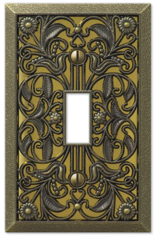 Decorate Switchplate as an Art Accent Piece