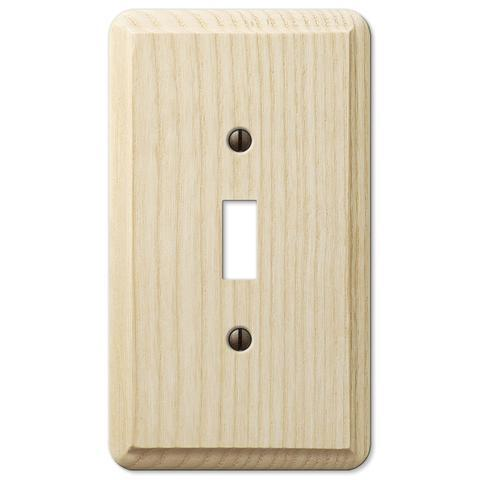 Contemporary Unfinished Ash Wood Wall Plate