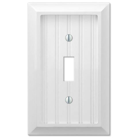 Cottage White Wood Switch Plate