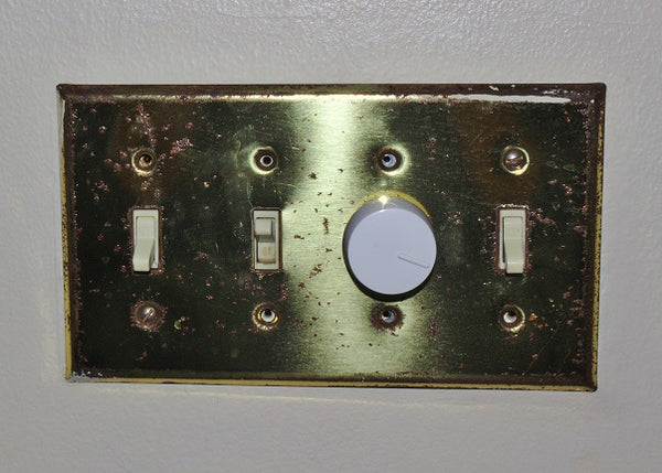Old wall switch plates