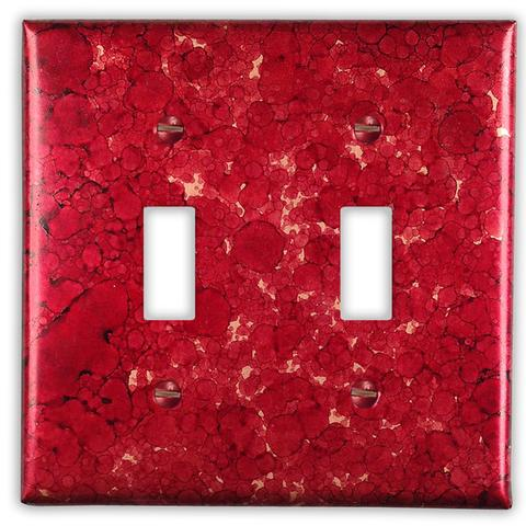 Wine red copper wall plate switch