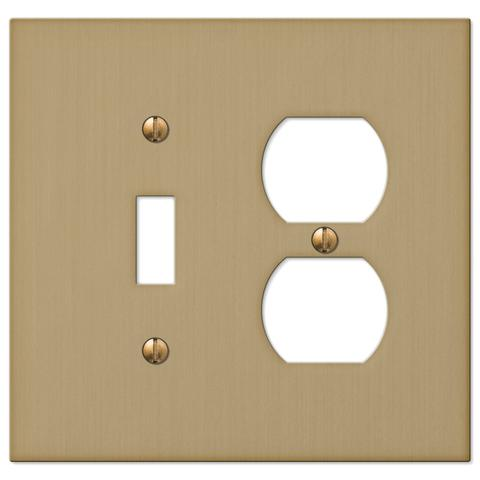 Brushed bronze electrical wall plate