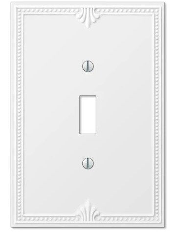Fancy White Light Switch Cover