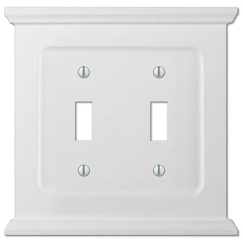 Mantle White 2-Toggle Switchplate