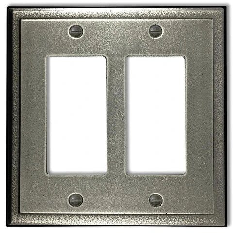 Metallic 2-Rocker Wallplate