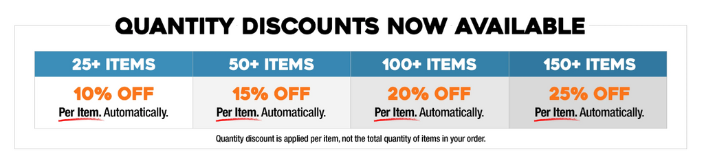 Quantity Discounts Now Available