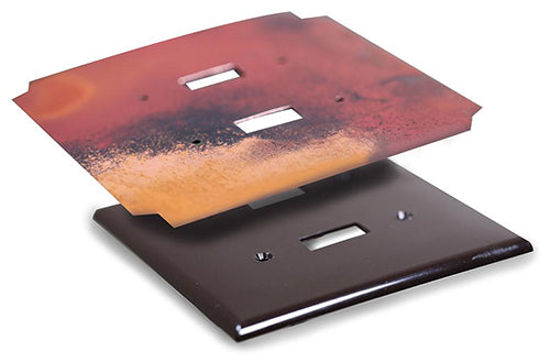 All Copper Venture wallplates feature real copper metal wrapped around an unbreakable vinyl wallplate.