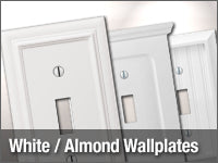 White / Almond Wallplates