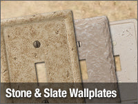 Stone and Slate Wallplates