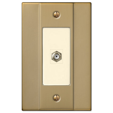 Italia Brushed Bronze Steel - 1 Cable Jack Wallplate - Wallplate Warehouse