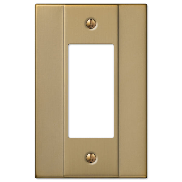 Italia Brushed Bronze Steel - 1 Rocker Wallplate - Wallplate Warehouse