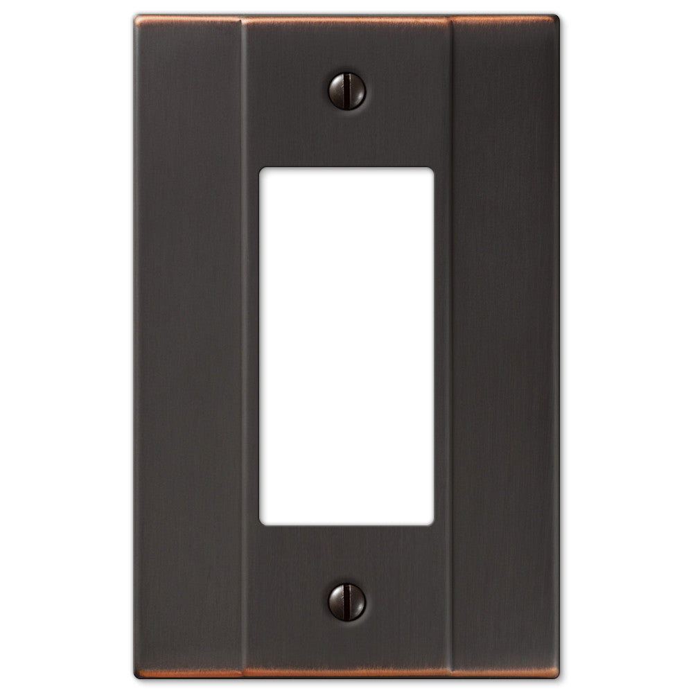 Italia Aged Bronze Steel - 1 Rocker Wallplate - Wallplate Warehouse