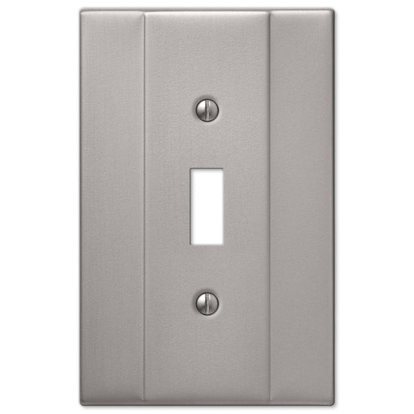 Italia Brushed Nickel Steel - 1 Toggle Wallplate - Wallplate Warehouse