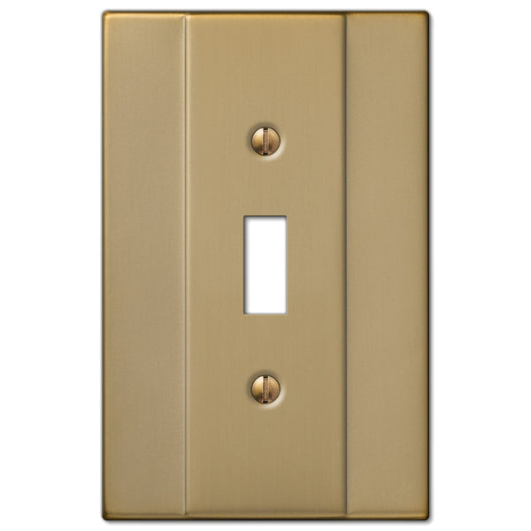 Italia Brushed Bronze Steel - 1 Toggle Wallplate - Wallplate Warehouse