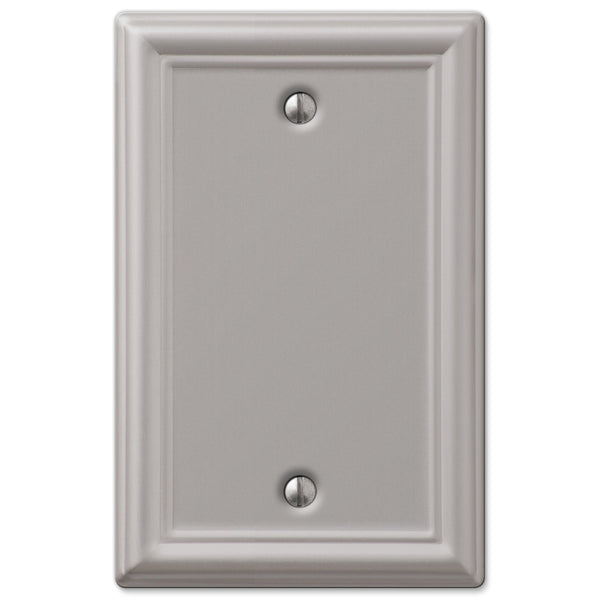 Chelsea Brushed Nickel Steel - 1 Blank Wallplate - Wallplate Warehouse