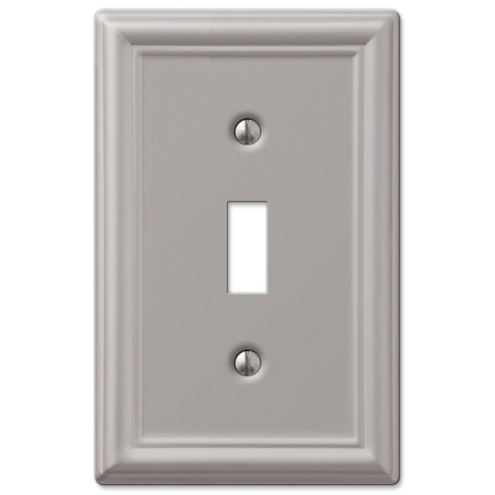 Chelsea Brushed Nickel Steel - 1 Toggle Wallplate - Wallplate Warehouse
