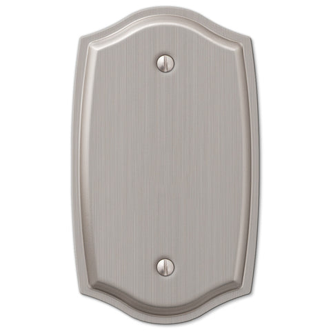 Sonoma Brushed Nickel Steel - 1 Blank Wallplate - Wallplate Warehouse