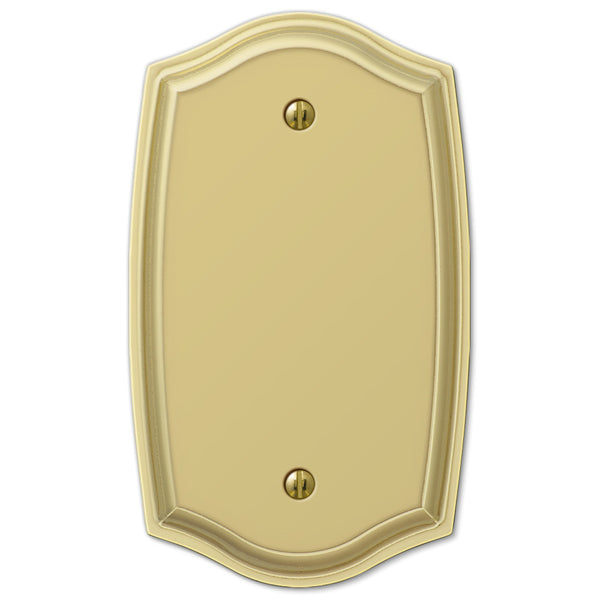 Sonoma Polished Brass Steel - 1 Blank Wallplate - Wallplate Warehouse
