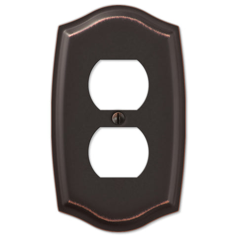 Sonoma Aged Bronze Steel - 1 Duplex Outlet Wallplate - Wallplate Warehouse