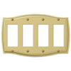 Sonoma Polished Brass Steel - 4 Rocker Wallplate - Wallplate Warehouse