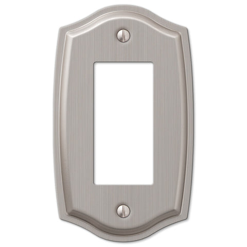 Sonoma Brushed Nickel Steel - 1 Rocker Wallplate - Wallplate Warehouse
