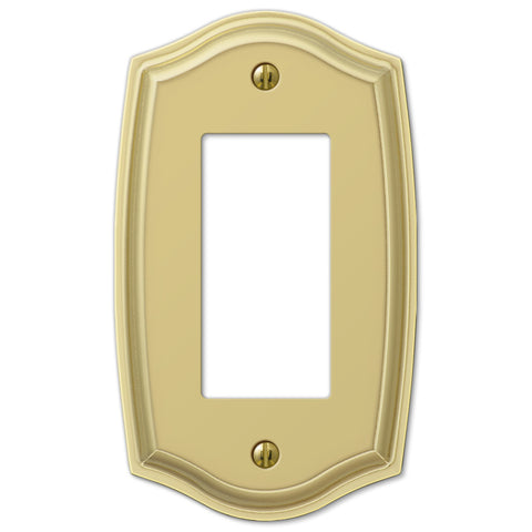 Sonoma Polished Brass Steel - 1 Rocker Wallplate - Wallplate Warehouse