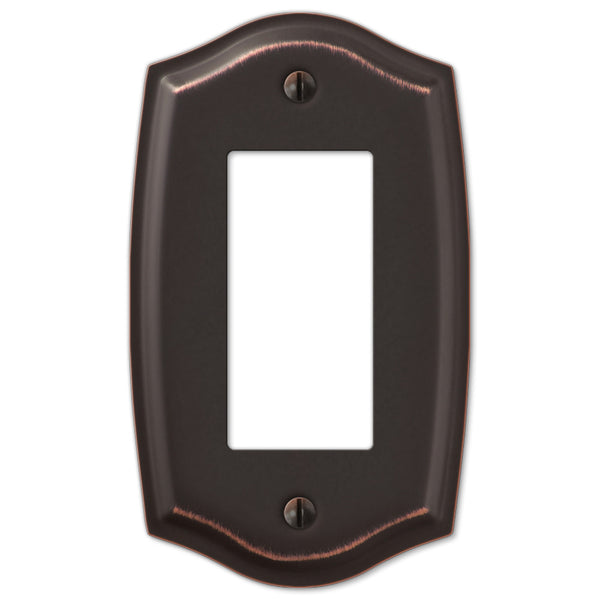 Sonoma Aged Bronze Steel - 1 Rocker Wallplate - Wallplate Warehouse