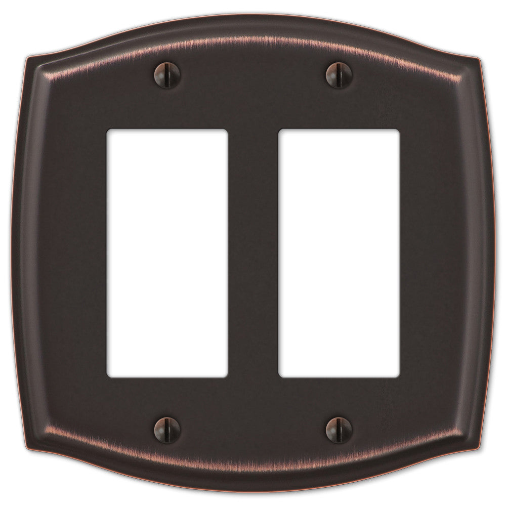 Sonoma Aged Bronze Steel - 2 Rocker Wallplate - Wallplate Warehouse