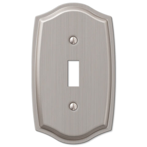 Sonoma Brushed Nickel Steel - 1 Toggle Wallplate - Wallplate Warehouse