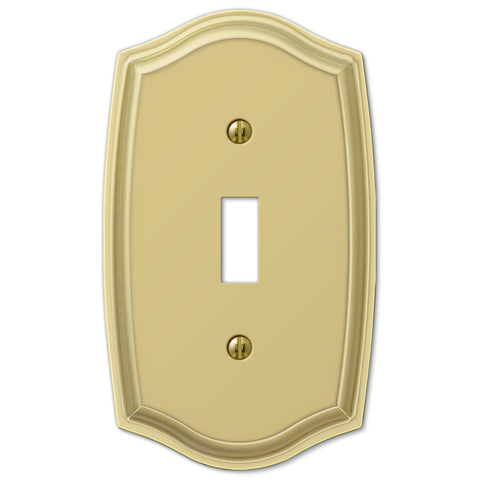 Sonoma Polished Brass Steel - 1 Toggle Wallplate - Wallplate Warehouse