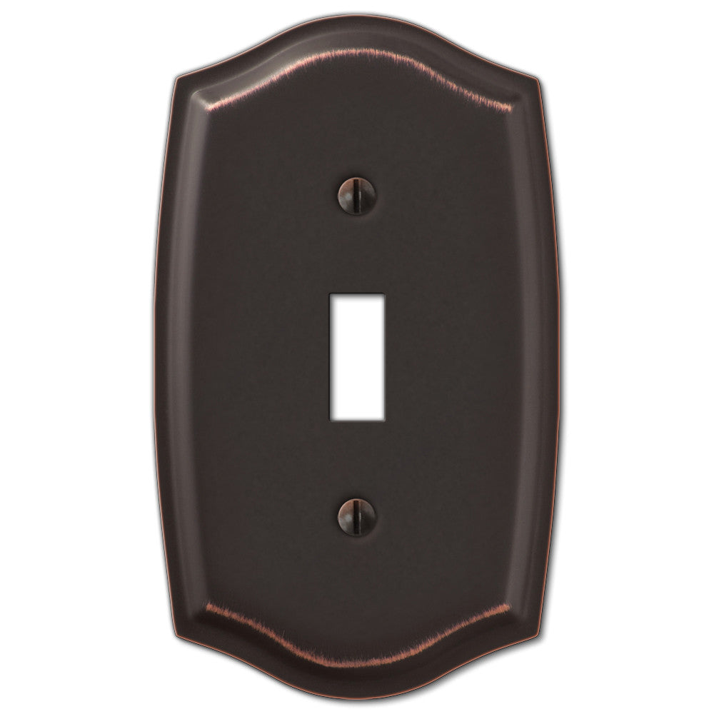 Sonoma Aged Bronze Steel - 1 Toggle Wallplate - Wallplate Warehouse