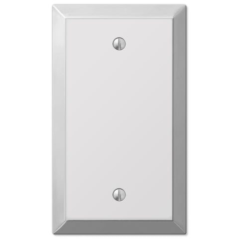 Century Polished Chrome Steel - 1 Blank Wallplate - Wallplate Warehouse