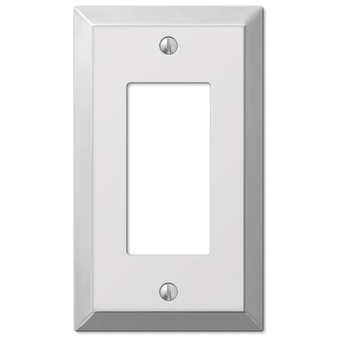 Century Polished Chrome Steel - 1 Rocker Wallplate - Wallplate Warehouse