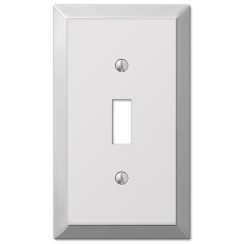 Century Polished Chrome Steel - 1 Toggle Wallplate - Wallplate Warehouse