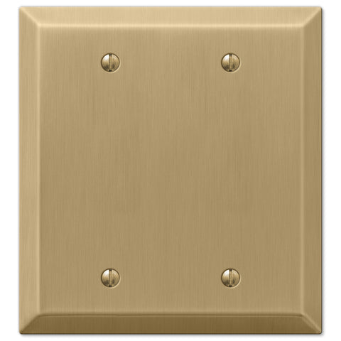 Century Brushed Bronze Steel - 2 Blank Wallplate - Wallplate Warehouse