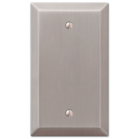 Century Brushed Nickel Steel - 1 Blank Wallplate - Wallplate Warehouse