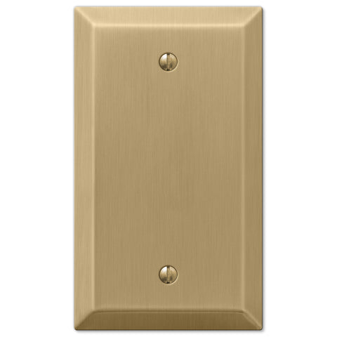 Century Brushed Bronze Steel - 1 Blank Wallplate - Wallplate Warehouse