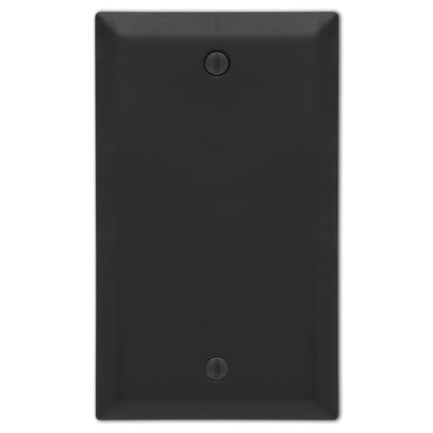 Century Matte Black Steel - 1 Blant Wallplate - Wallplate Warehouse