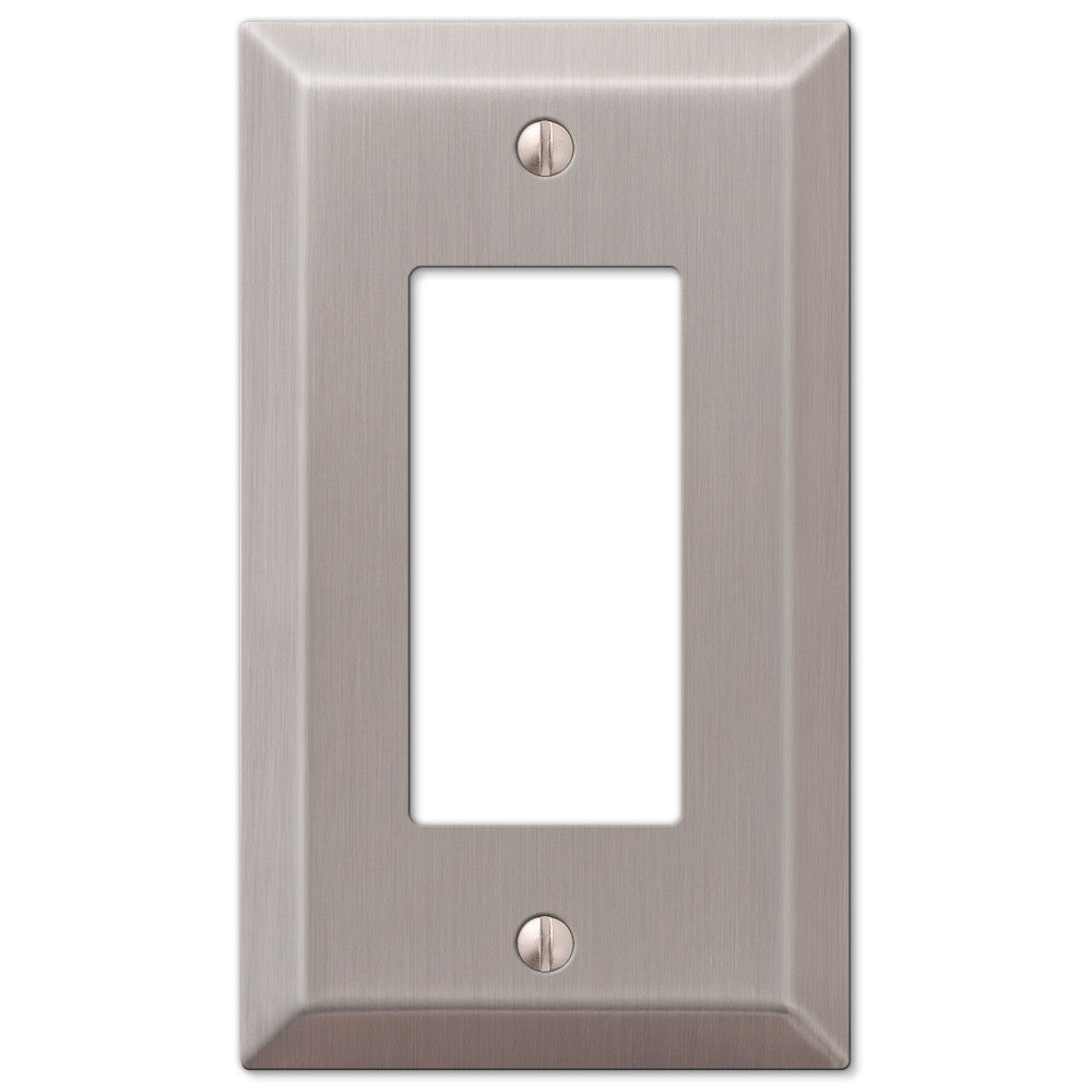 Century Brushed Nickel Steel - 1 Rocker Wallplate - Wallplate Warehouse