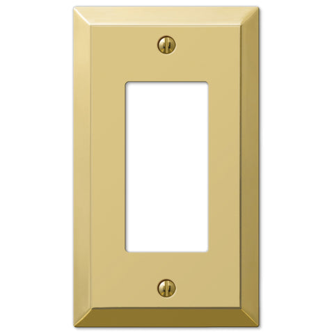 Century Polished Brass Steel - 1 Rocker Wallplate - Wallplate Warehouse