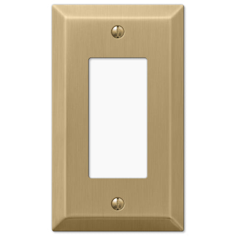 Century Brushed Bronze Steel - 1 Rocker Wallplate - Wallplate Warehouse