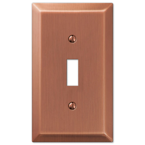 Century Antique Copper Steel - 1 Toggle Wallplate - Wallplate Warehouse