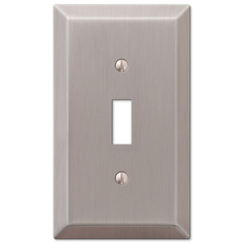 Century Brushed Nickel Steel - 1 Toggle Wallplate - Wallplate Warehouse