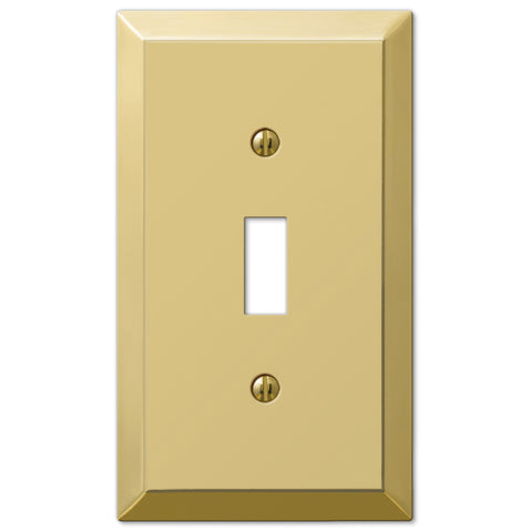 Century Polished Brass Steel - 1 Toggle Wallplate - Wallplate Warehouse