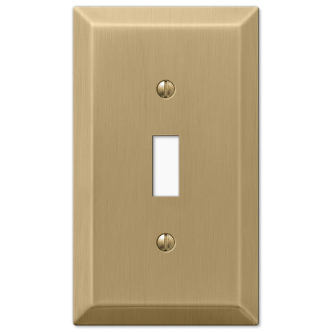 Century Brushed Bronze Steel - 1 Toggle Wallplate - Wallplate Warehouse