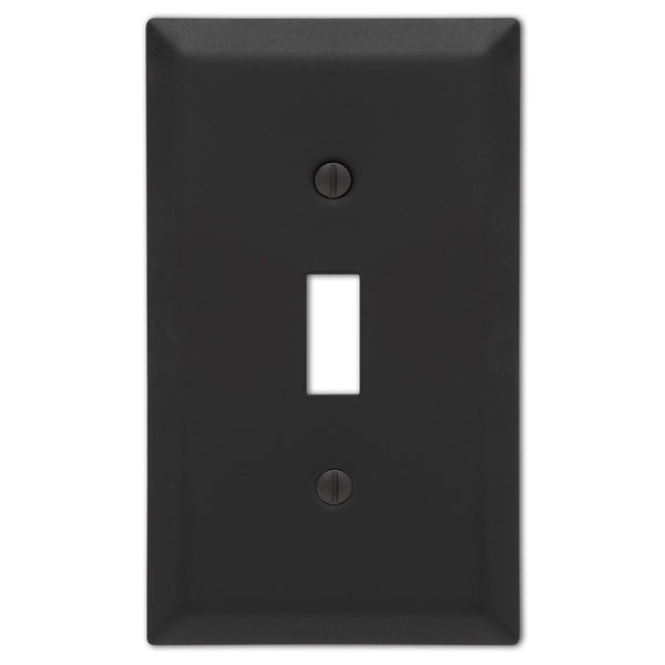 Century Matte Black Steel - 1 Toggle Wallplate - Wallplate Warehouse