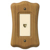 Austin Medium Oak Finish - 1 Phone Jack Wallplate - Wallplate Warehouse